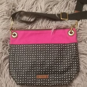 Fossil Crossbody Purse Women Pink And Black